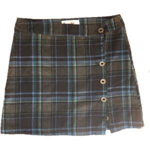 Aventura organic plaid button up mini skirt 14
